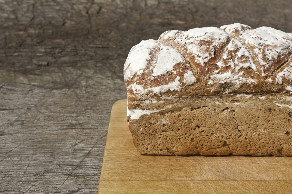 fresh baked brown wholemeal loaf