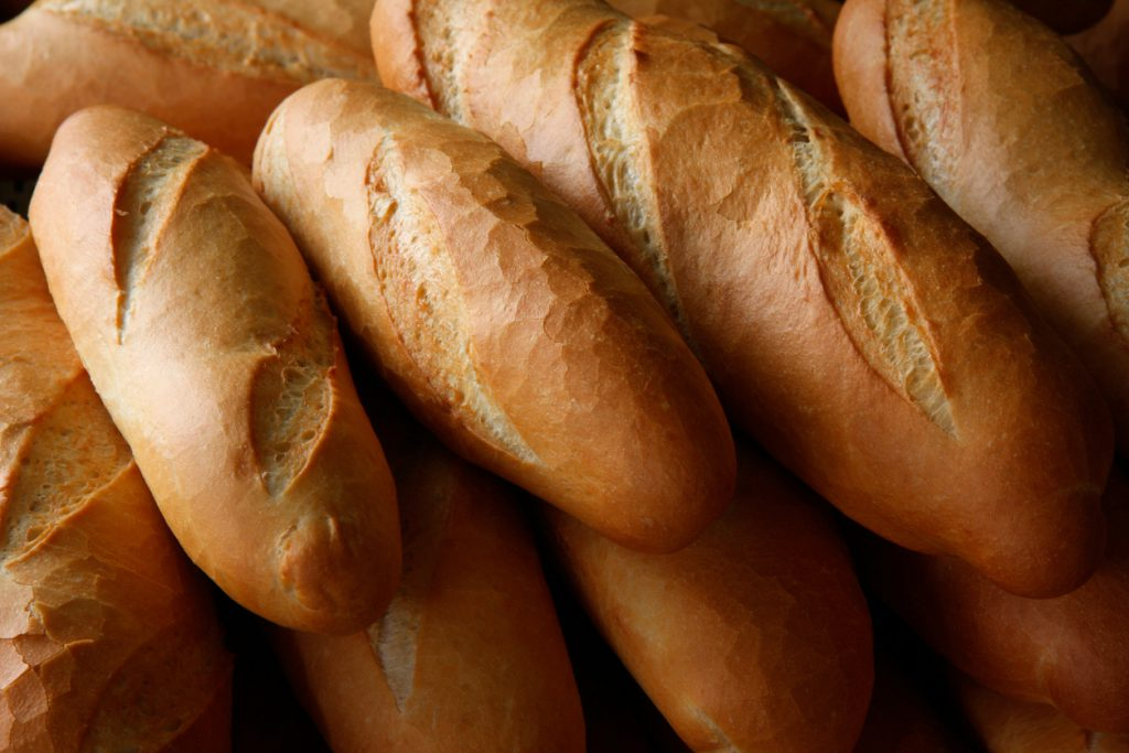 Lovely crusty mini-baguettes