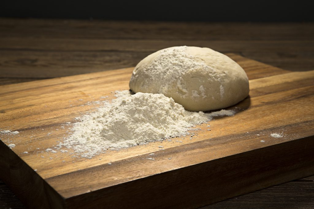 Unbaked Boule Dough on Paddle